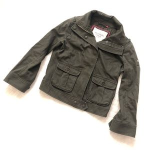 Abercrombie & Fitch cropped utility moto jacket/S